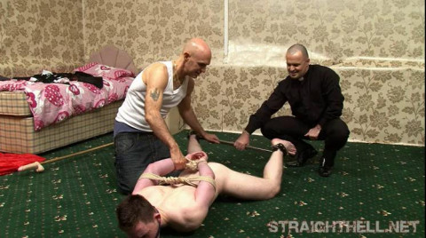 Kristjan - Angry chap acquires his raiment ripped off, double teat clamps