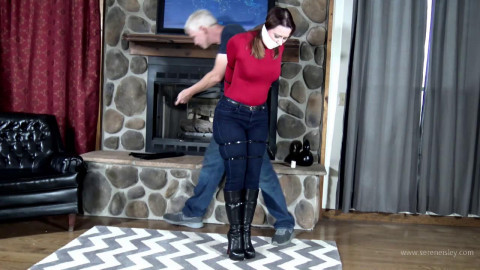 Serene Isley - Damsel Zip-tied in Jeans