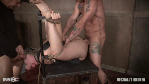 Kel Bowie is fastened, made to squirt & whilst getting screwed