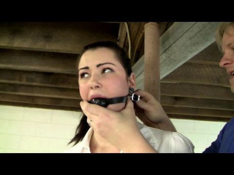 Tied and Gagged to a Pole