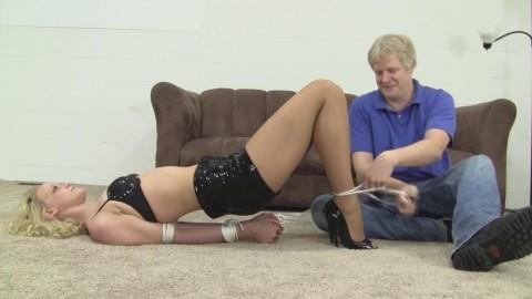 Mia Vallis Tickle In Shiny Shorts (2015)
