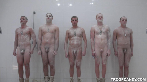 Showering Orgy With Young Soldiers