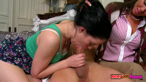 A Hot Lady Whipped Out His Dick And Gave It A Couple Licks