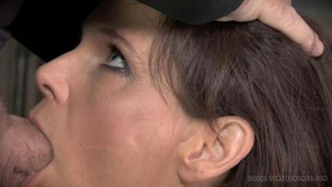 Syren De Mer shackled down with epic brutal deepthroat on BBC
