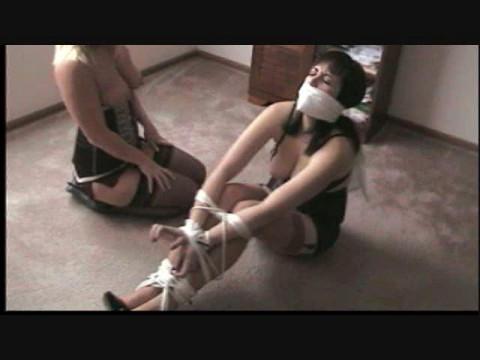 Crystal restraint bondage revenge on dixie