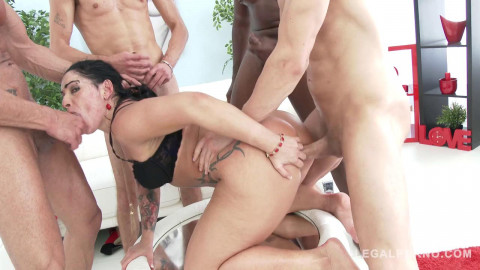 Monica Santiago loves rough anal gangbang with DP