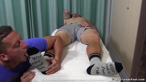Horny Clints Feet Worshiped