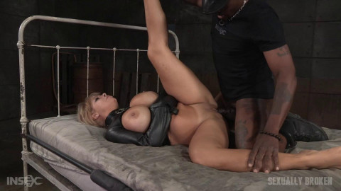 Sexuallybroken - Jan 27, 2016 - Big breasted Alyssa Lynn takes on two cocks while bound