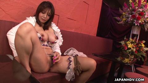 Sayuri mikami has some pleasure with her needy body in advance of work