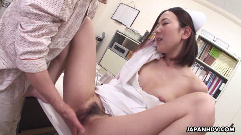 Amazing nurse, mika kojima is masturbating for her patient