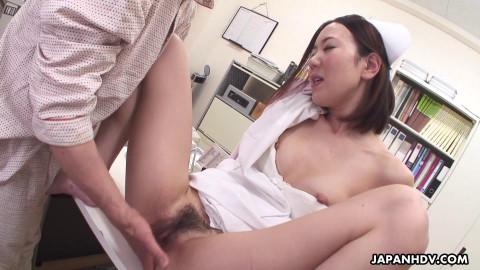 Outstanding nurse, mika kojima is masturbating for her patient