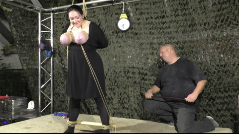 More Public Breast Torture for Titslave Cat