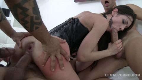 Arwen Gold 5 on 1 slut punishment And double anal (2016)