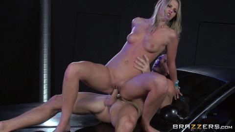 Hooligan Blonde Girl Makes Him A Good Blowjob