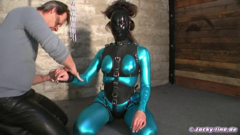 Tight bondage and strappado for beautiful slut