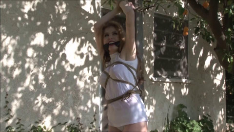 Tight tying, domination and strappado for lustful blond HD 1080p