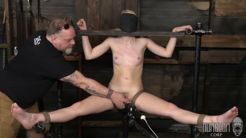 Bondage, domination, spanking and punishment for sexy golden-haired part 2