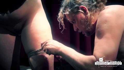 Wild bondage and torture session with chubby German slave Pina Deluxe PT 1 (28 Jul 2017)