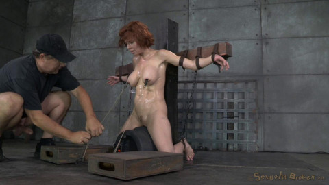 Stunning busty Milf Veronica Avluv does brutal drooling deepthroat crucified on a sybain! (2014)