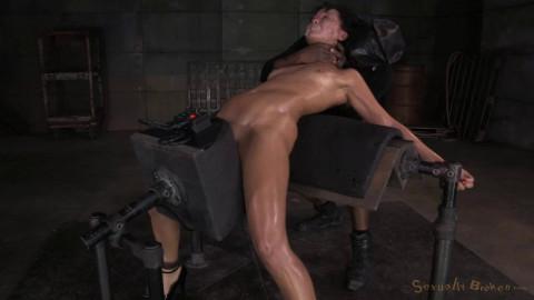 Tightly bound in back arch & sybian orgasms