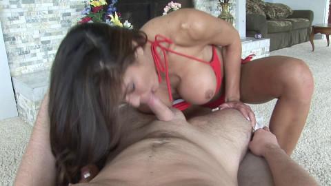 Astonishing bitch satisfies her man