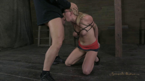Farmers girl gets her huge tits bound, skull & Pussy fucked, made to cum over and over