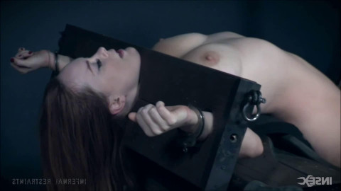 Bondage, spanking and torment for hawt cutie with large love melons part 2