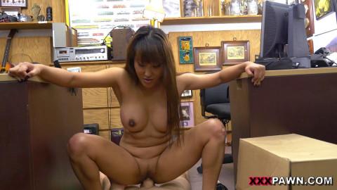 Asian Chick Exchanges Family Sword For White Man's Flesh Sword