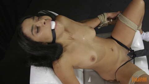 18 Year Old Hottie Chair Tied with Orgasms