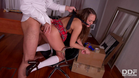 Strict Principles Naughty Schoolgirl Spanked And Fucked