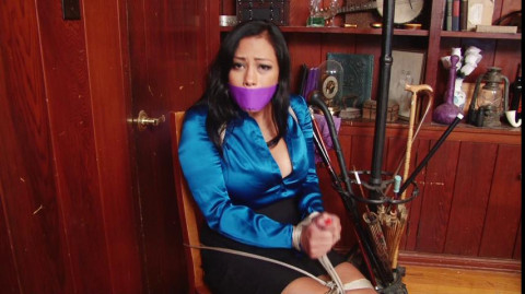 Busty Sexy Secretary Bound and Gagged in the Library - Maxine X