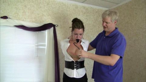 Belle Davis Tests The Pump Gag