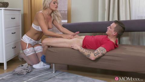 Dom Ully, Nicole Vice - Mom fucks lad caught masturbating FullHD 1080p