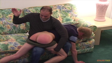 Interview with a Spanker sc1. - Justin spanked for smokin