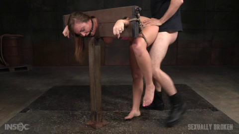 SexuallyBroken - Mar 04, 2016 - Redheaded Maddy OReilly bound and drooling in strict bondage