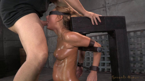 Carter Cruise blindfolded oiled sybian blasted multiple orgasm brutally throatboarded! (2014)
