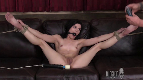 Another Princess Gets Punished - Black haired babe gets f orgasms