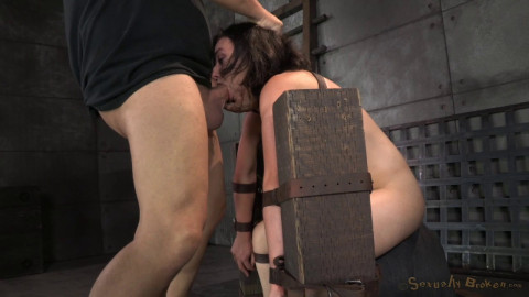 Cute Little Amy Faye Belted Down Onto Sybian