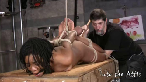 Hard tying, hog tie and ache for concupiscent charming model HD 1080p