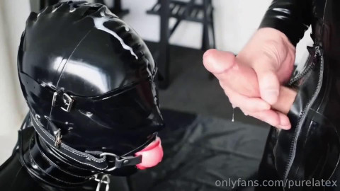 Bondage, domination and punishment for very hot whore in latex