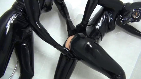Super tying and domination for 2 hot beauties in latex