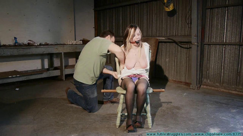 Lexi Lane Kneels and Begs For Tit Torture, and Gets It - Part 1