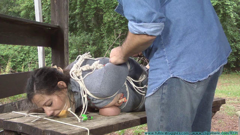 Bondage - Summer Hogtied and Left Outside With the Bugs in the Heat - Part 2