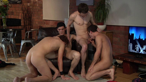Language Lesson Becomes Gangbang Session Part 1