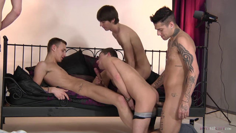 Five Slutty Boyz All Hungry For It!