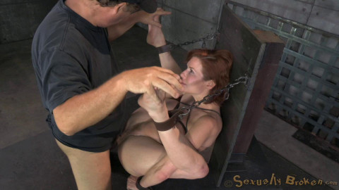 Redheaded Veronica Avluv bound fucked rough hard, massive squirting multiple orgasms! (2014)