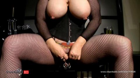 SlaveM  / clip4sale - Juicy busty lady torments his body