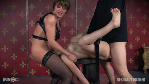 SexuallyBroken - Jun 08, 2016 - Mandy Muse Bound To a Table and Mercilessly Fucked From Both Sides!