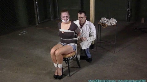 Brenda Chair Tied, Hooded, Breast Bound, and Hung - Part 1