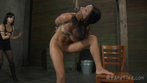 Bondage, spanking and castigation for stripped floozy part 2